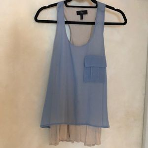 AQUA Chiffon Swing Top